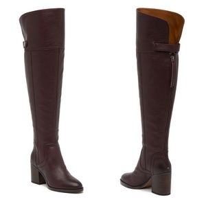 🆕 Franco Sarto Ollie Over The Knee Leather Boots